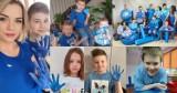 Zaświecili na niebiesko. Uczniowie ZSS, SP w Rudzie i wicestarosta wieluński solidarni z osobami autystycznymi