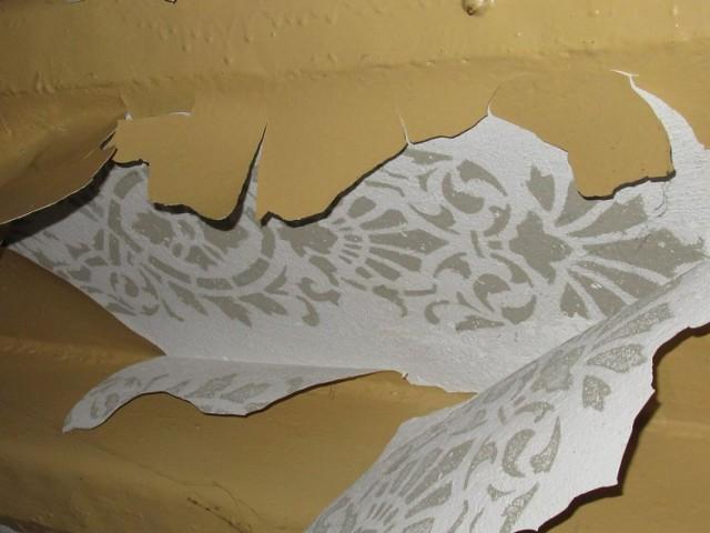 Dekoracja znajduje się pod warstwą farby olejnej.