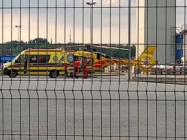 Śmigłowiec LPR-u wylądował po pacjenta na terenie świeczek w Białym Borze pod Grudziądzem
