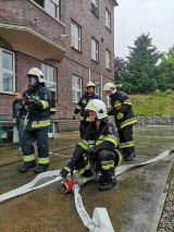 Pożar transformatora w elektrowni wodnej w Dychowie. Duża akcja straży pożarnej. Na szczęście, to były tylko ćwiczenia!