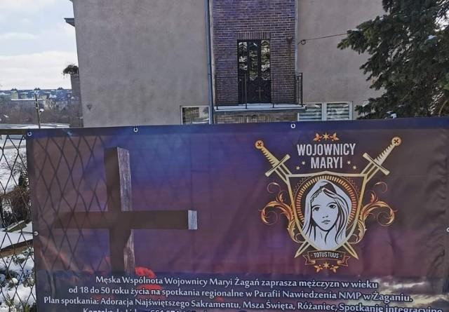 """Żagań jest jednym z dwóch miejsc spotkań """"Wojowników Maryi"""" w województwie lubuskim. Drugie jest w Lubrzy"""