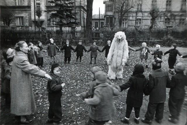 Przedszkole kolejowe, ul. Kwiatowa, 1956 r.   (Kamila Drop)