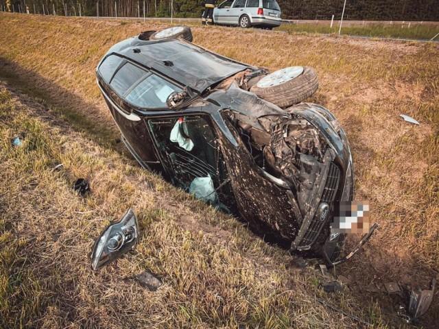Pomiędzy Żabowem a Wojcieszynem doszło dzisiaj do wypadku