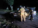 Gmina Trzemeszno. Wypadek na drodze Szydłowo-Trzemżal. BMW doszczętnie zniszczone