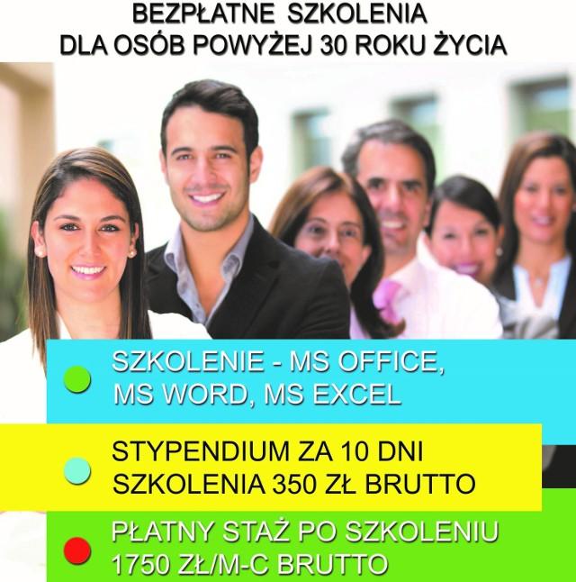 Jastrzębie-Zdrój: Kursy i płatny staż dla bezrobotnych powyżej 30 roku życia