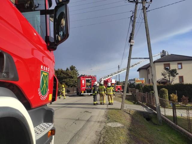 Przy ulicy Kościuszki w Turzy Śląskiej płonął dach domu jednorodzinnego