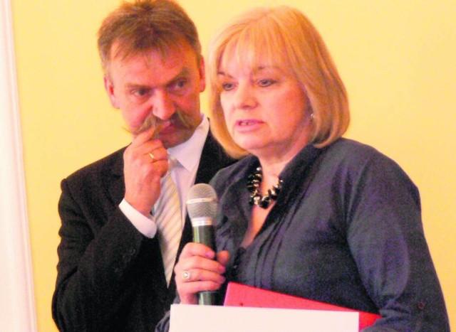 Grażyna Wołynik chwali sobie współpracę z burmistrzem Krzysztofem Kalińskim