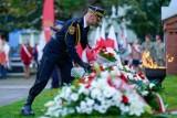 Upamiętnienie 82. rocznicy rozstrzelania Obrońców Poczty Polskiej na cmentarzu na Zaspie w Gdańsku