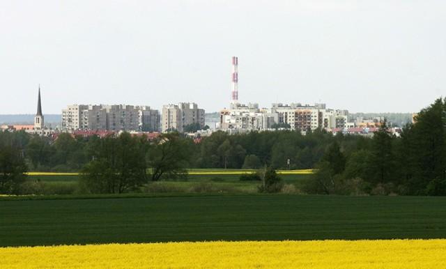 Tak wygląda Legnica z wysokości miejscowości Psary.