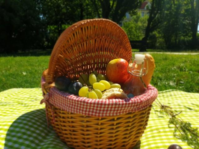 Uwaga, kosz piknikowy trzeba zarezerwować wcześniej w restauracji w Pałacu Nowym w Ostromecku
