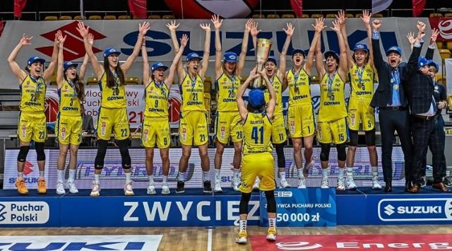 Koszykarki VBW Arki Gdynia w finale Suzuki Pucharu Polski pokonały CCC Polkowice