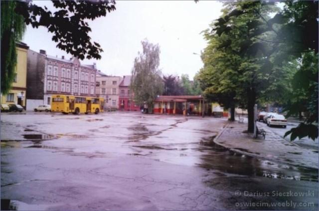 W miejscu, gdzie dzisiaj jest parking na placu Kościuszki był przystanek autobusów MZK