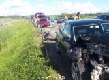 Wypadek w okolicach Lipianek. Zderzyły się dwa samochody osobowe. Policjanci apelują o ostrożność