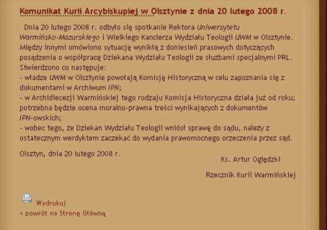 http://archidiecezjawarminska.pl/index/2008/02/21/komunikat-kurii-arcybiskupiej-w-olsztynie-z-dnia-20-lutego-2008-r/