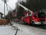 Zagórnik k. Andrychowa. O krok od tragedii. Drzewo spadło na linię energetyczną [ZDJĘCIA]