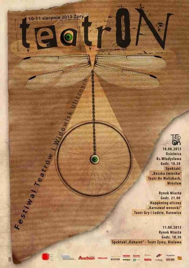 TeatrON Żory 2013: Teatr wyjdzie na ulice!
