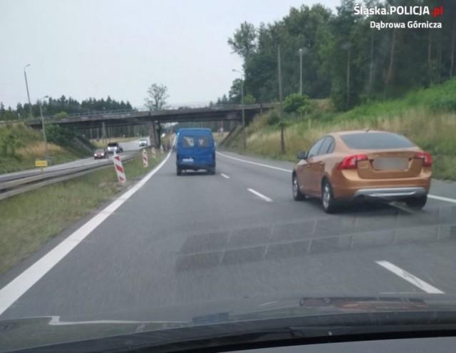 Policyjny pościg za piratem drogowym w Dąbrowie Górniczej