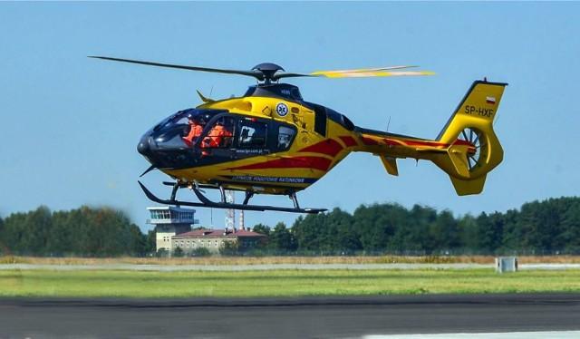Stan poszkodowanego był na tyle ciężki, że konieczny był natychmiastowy transport helikopterem