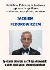 Spotkanie z satyrykiem Jackiem Fedorowiczem w budzyńskiej bibliotece