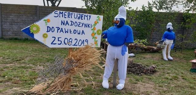 Smerfne zaproszenie na dożynki gminy Czerniejewo w Pawłowie