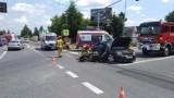 Wypadek w Sandomierzu na krajowej trasie numer 77. Jedna osoba ranna