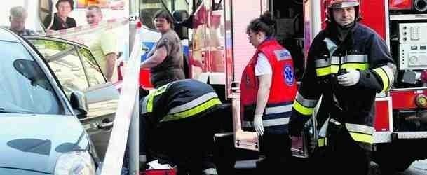 Na miejsce wezwania pierwsi przybyli strażacy jednostki ratowniczej w Legnicy