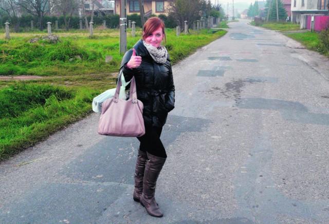 Ewelina Kozub z Jadownik jest zadowolona z jakości łącza internetowego w swojej rodzinnej miejscowości