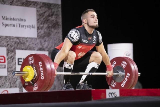 Piotr Kudłaszyk na Mistrzostwach Polski w 2020r., na których zdobył srebrny medal
