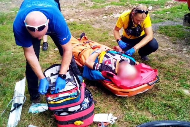 W weekend 14-15 sierpnia goprowcy byli wzywani do 23 wypadków, głównie z udziałem rowerzystów