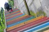 Kolorowe schody na Podgórzu. Znacie? [ZDJĘCIA]