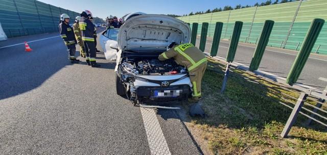 Wypadek na autostradzie A1 pod Grudziądzem