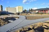 Rewitalizacja osiedla w Barcinie. Tak wygląda przebudowywany teren [kwiecień 2021, zdjęcia]
