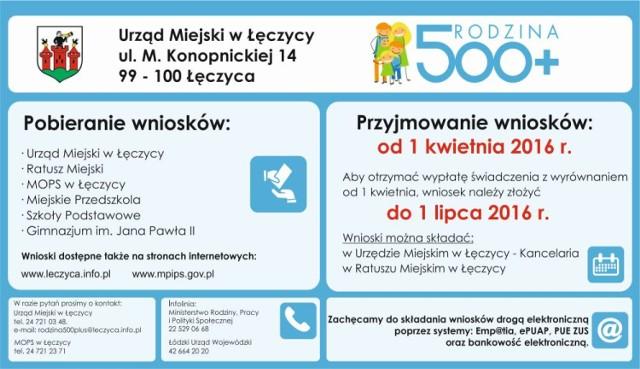 Już 800 wniosków na 500+ w Łęczycy