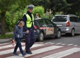 """Działania jarosławskich policjantów """"Bezpieczna droga do szkoły"""""""