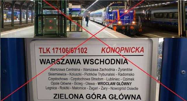 Bezpośrednie połączenie kolejowe z Zielonej Góy do Warszawy zostanie zlikwidowane. Powodem jest małe zainteresowanie pasażerów.