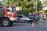 Wypadek na ulicy Zadębi w Skierniewicach. Jedna osoba w szpitalu [ZDJĘCIA]