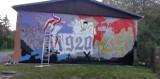 Chełm. Przy ulicy Brzozowej dobiega końca malowanie historycznego muralu
