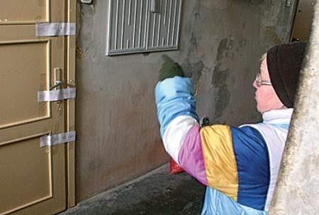 Chłopczyk zginął za tymi drzwiami.  Wojciech Trzcionka