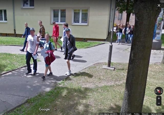 Google Street View na osiedlu Nowym w Inowrocławiu