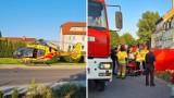Potrącony rowerzysta w Chojnowie. Na miejsce przybyło Lotnicze Pogotowie Ratunkowe