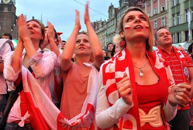 Mecz Polska - Rosja w Strefie Kibica we Wrocławiu, 12.06.2012
