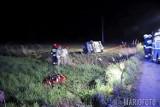 Wypadek w Chróścinie Opolskiej. Samochód osobowy dachował, jedna osoba poszkodowana