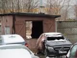 Śmiertelny pożar na Widzewie. Ogień w murowanym budynku. Zginął mężczyzna