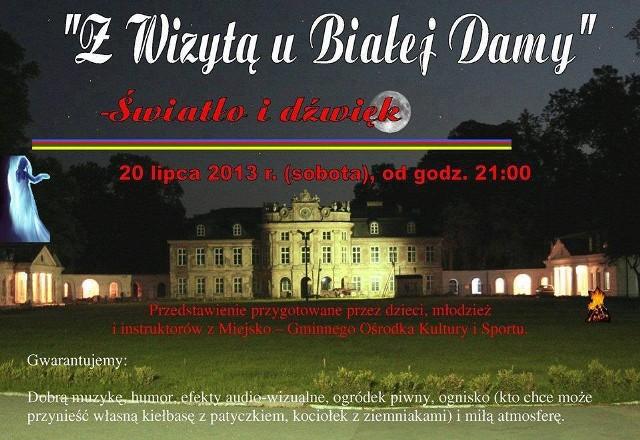 Przedstawienie przed pałacem w Szczekocinach zaplanowano na sobotę, 20 lipca.