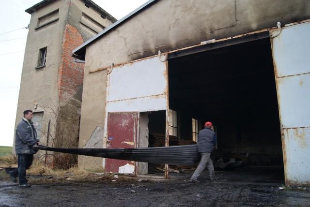Pożar hali produkcyjnej w Krzanowicach