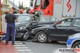 Groźnie wyglądający wypadek. BMW zderzyło się z seatem. W aucie była dwójka małych dzieci...