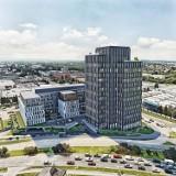 Taki budynek mógłby powstać w Rzeszowie, przy ul. Przemysłowej. Ale nie powstanie. Inwestor wycofał się z koncepcji [WIZUALIZAJCE]