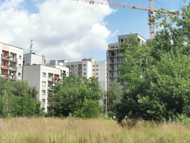 Tak obecnie wygląda teren w pobliżu Wiertniczej i Leopolda. Przy osiedlu z lat 80. powstaje nowy apartamentowiec Słoneczne Tarasy  Zobacz kolejne zdjęcia. Przesuwaj zdjęcia w prawo - naciśnij strzałkę lub przycisk NASTĘPNE