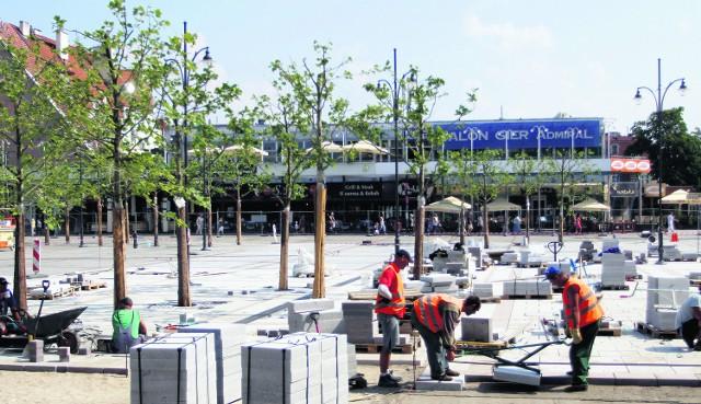 Trawniki będą stanowiły wyposażenie ruchome placu Przyjaciół Sopotu