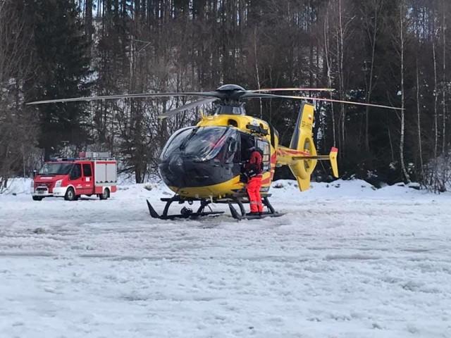 Groźny wypadek narciarza w Zwardoniu